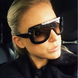 Oversized Sunglasses Celebrity Style Kim Kardashian Style - CelebritystyleFashion.com.au online clothing shop australia