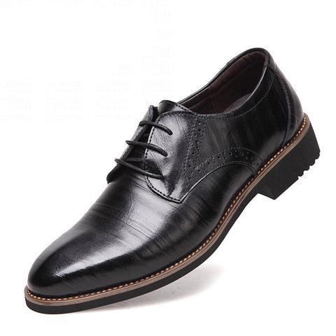 100% Genuine Leather Mens Dress Shoes, High Quality Oxford Shoes For Men, Lace-Up Business Men Shoes, Brand Men Wedding Shoes - CelebritystyleFashion.com.au online clothing shop australia