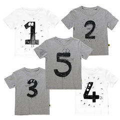 Number Letter Boys Print T shirt For Kids Summer T-shirts Baby Boy Funny Birthday T-shirts Kids Boys Casual Tops CG052 - CelebritystyleFashion.com.au online clothing shop australia