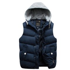 Winter Hooded Vest Thick Warm Men Jacket Sleeveless Waistcoat Street Hoodie Style Male Plus Size 3XL Coat 661 - CelebritystyleFashion.com.au online clothing shop australia