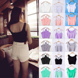 Women Tank Crop Top Short Vest Womens Sexy Camisole Bustier Crop Top cropped Camisa Feminina - CelebritystyleFashion.com.au online clothing shop australia
