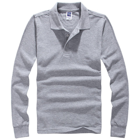 Brand Men Polo Hombre Shirt Mens Fashion Collar shirts Long Sleeve Casual Camisetas Masculinas Plus Size S-XXXL Polos Sweatshirt - CelebritystyleFashion.com.au online clothing shop australia