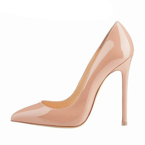 Brand Shoes Woman High Heels Pumps Red High Heels 12CM Women Shoes High Heels Wedding Shoes Pumps Black Nude Shoes Heels B-0043 - CelebritystyleFashion.com.au online clothing shop australia