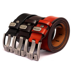 Designer Brand Belt for Men High Quality Genuine Leather Gold Pin Buckle Belt Men Vintage Casual Women Jeans Belt - CelebritystyleFashion.com.au online clothing shop australia