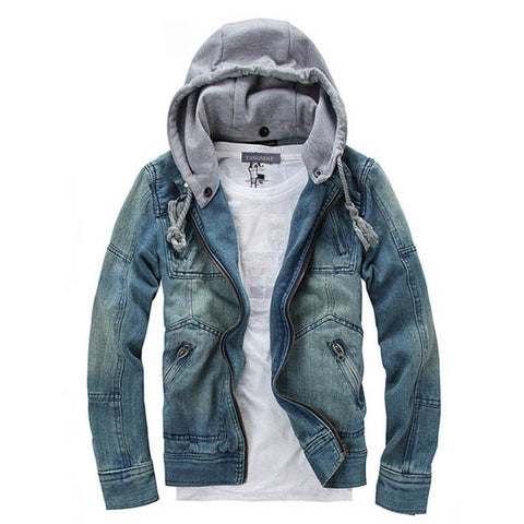 Casual Fashion Men's Denim Jacket Comfortable Male Cowboy Jacket Plus Size M-XXXL MWJ089 - CelebritystyleFashion.com.au online clothing shop australia
