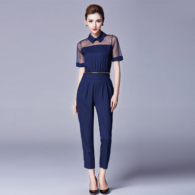 Summer Jumpsuit Women Design Zipper Detachable Chiffon Long Pants Rompers Women Jumpsuit Overalls Bodysuit macacao mono S59003 - CelebritystyleFashion.com.au online clothing shop australia