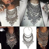 HOT Statement Necklaces & Pendants Vintage Crystal Maxi Choker Silver Collier Femme Boho Big Fashion Women Jewellery - CelebritystyleFashion.com.au online clothing shop australia