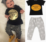 Summer 2pcs Newborn Infant Baby Boys Kid Clothes T-shirt Tops + Pants Outfits Sets 0-24 Children's Clothing Set - CelebritystyleFashion.com.au online clothing shop australia