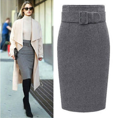 fashion cotton plus size high waist casual midi pencil skirt women skirts female - CelebritystyleFashion.com.au online clothing shop australia