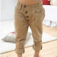 2-7Y Child Kids Baby Boy Khaki Straight Cotton Pants Trousers Casual Harem Pants - CelebritystyleFashion.com.au online clothing shop australia