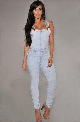 Women Girls Washed Jeans Denim Casual Hole Loose Jumpsuit Romper Overall - CelebritystyleFashion.com.au online clothing shop australia