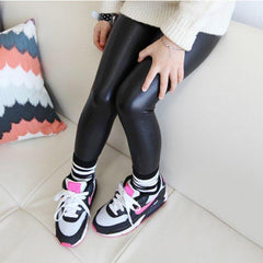 Baby Girl Legging Fashion Full Length Leggings Faux PU Leather Skinny Pants Girl Leggings Children Pants 66 - CelebritystyleFashion.com.au online clothing shop australia