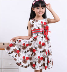 Baby Girls Floral Summer Dress Girl Cotton Princess Birthday Party Christmas Dress 2-15Yrs Girl's Fashion Dress for Wedding D16 - CelebritystyleFashion.com.au online clothing shop australia