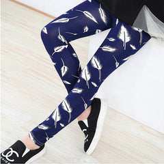 New Spring Summer Girls Leggings Casual Fashion Vintage Flower Kids Legging Elastic Waist Children's Pants bobo choses 8-14 Year - CelebritystyleFashion.com.au online clothing shop australia