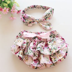 baby summer style bloomers baby ruffle panties with headband ruffled shorts baby girls - CelebritystyleFashion.com.au online clothing shop australia