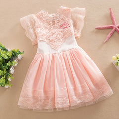 Baby Girl Lace Tutu Dress Summer Hollw Out Sundress Kids Formal Birthday Wedding Party Clothes - CelebritystyleFashion.com.au online clothing shop australia