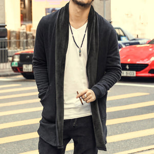 brand casual Mens autumn long sweater coat knit cardigan jacket coat Korean sweater warm Slim Fit Men Thick Cardigan Jacket Coat - CelebritystyleFashion.com.au online clothing shop australia