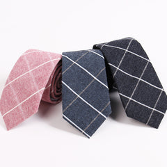 Men's Suit Tie Classic Men's Plaid Necktie Formal Wear Business Bowknots Ties Male Cotton Skinny Slim Ties Cravat - CelebritystyleFashion.com.au online clothing shop australia