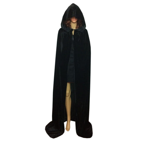 Cloak Velvet Hooded Cape Medieval Renaissance Costume Xmas Vampire Fancy Dress - CelebritystyleFashion.com.au online clothing shop australia