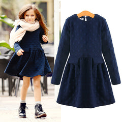 Girls Dresses Thicken Warm Cotton Spring Children's Clothes Kids Dresses Vestidos Elegant Style AuroraBaby - CelebritystyleFashion.com.au online clothing shop australia