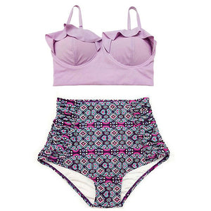 TQSKK New Bikinis Women Swimsuit High Waist Bathing Suit Plus Size Swimwear Push Up Bikini Set Vintage Retro Beach Wear XXL - CelebritystyleFashion.com.au online clothing shop australia