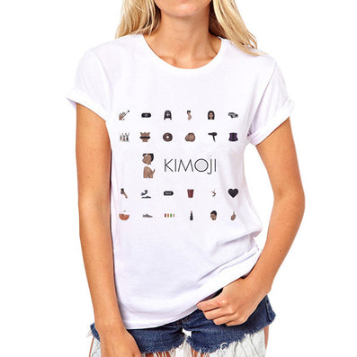 Kim Kardashian Kimoji T-Shirt Many Styles Available - CelebritystyleFashion.com.au online clothing shop australia