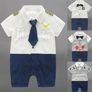 Baby Boys Rompers Summer Baby Boy Clothing Sets Roupas Bebes Short Sleeve Infant Baby Boy Jumpsuits Newborn Baby Clothes - CelebritystyleFashion.com.au online clothing shop australia
