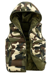 Mens & women Spring Autumn clothing fashion casual vest Men camouflage vests Men Down sleeveless jacket waistcoat - CelebritystyleFashion.com.au online clothing shop australia