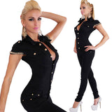 Black Bodycon Jumpsuit Fashion Jumpsuit Women Overalls Elegant Long Pants sale Rompers Women Summer Sexy Combinaison Femme - CelebritystyleFashion.com.au online clothing shop australia