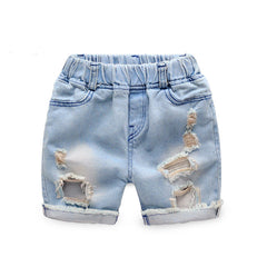 Summer Boys Ripped Denim Shorts Boys Jeans Panties New Jeans Shorts for Children 24M-8T, SC144 - CelebritystyleFashion.com.au online clothing shop australia
