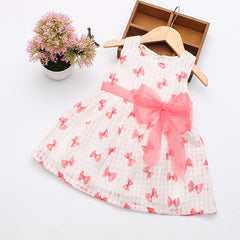 Summer Cotton Baby Dress Princess Dress Puff Sleeveless Cute Fashionable Baby Infant Dress 0-2 Years - CelebritystyleFashion.com.au online clothing shop australia
