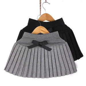 clothing girl's bust skirt thin woolen pleated skirt black/gray 3T~12 - CelebritystyleFashion.com.au online clothing shop australia