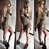 Pencil Bodycon Skinny Mini Shirt Dress Casual Kylie Jenner Style - CelebritystyleFashion.com.au online clothing shop australia
