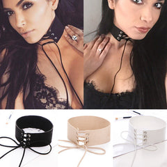 3 Colors Velvet Leather Necklace Choker Collar Kim Kardashian Style - CelebritystyleFashion.com.au online clothing shop australia
