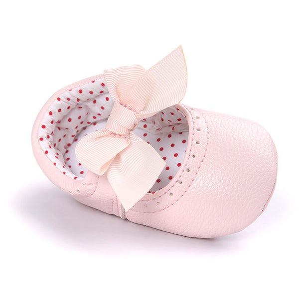e99cdfe2a4 Soft Bottom Fashion Butterfly-knot Baby Moccasin Newborn Babies Shoes PU  Leather Prewalkers Boots Non-slip Shoes for Baby Girls