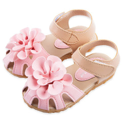 Summer Cool PU Leather Flower Design Skidproof Sandals Shoes for Baby Girls Cute Beauty Princess Design - CelebritystyleFashion.com.au online clothing shop australia