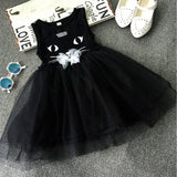 Summer Girl Dresses Cat Print Girls Clothes Baby Casual Dress Princess Party Children Costume Vestidos Infantis - CelebritystyleFashion.com.au online clothing shop australia