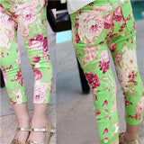 Kids Leggings Summer Girl Legging Cheap Floral Skinny Pencil Pants for Girls Children Pants - CelebritystyleFashion.com.au online clothing shop australia