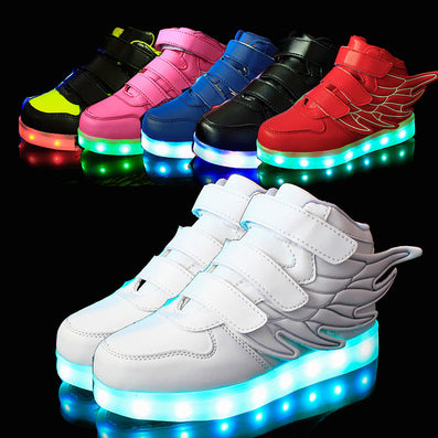25-37 Size  USB Charging Basket Led Children Shoes With Light Up Kids Casual 8b96b3ef83ce