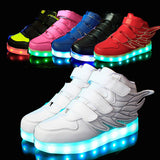 25-37 Size/ USB Charging Basket Led Children Shoes With Light Up Kids Casual Boys&Girls Luminous Sneakers Glowing Shoe enfant - CelebritystyleFashion.com.au online clothing shop australia