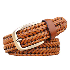 New Belt Man Fashion Mens belts luxury genuine leather Brown braided Cow skin straps men Jeans Wide girdle Male 3 colors - CelebritystyleFashion.com.au online clothing shop australia