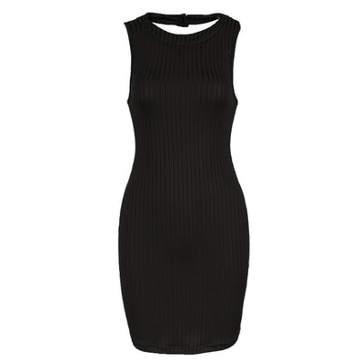 Womens Olive Green Stripped Halter Bodycon Dress Mini Club Party Dress - CelebritystyleFashion.com.au online clothing shop australia