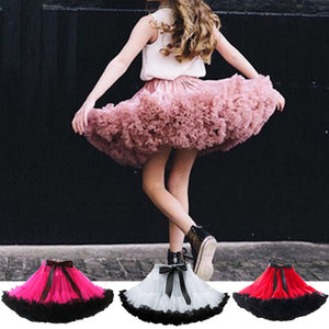 Fashion Fluffy Chiffon Pettiskirts tutu Baby Girls Skirts Princess skirt dance wear Party clothes 12M-10T - CelebritystyleFashion.com.au online clothing shop australia