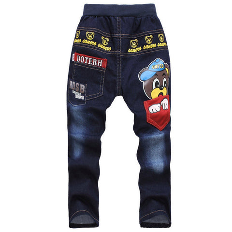 Autumn Children Jeans For Boy Baby Boys Jeans Pants Designer Kids Jean Children's Elastic Waist Trousers - CelebritystyleFashion.com.au online clothing shop australia