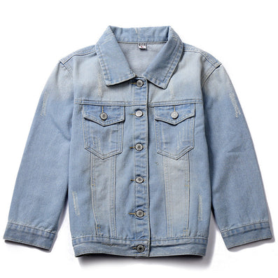 bf777154511 TC Women Jeans Jackets Short Tops Spring Autumn Long Sleeve Denim Coat  Ripped For Women Clothing