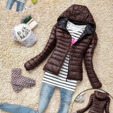 5 Color New Winter Jacket Women Outerwear Slim Hooded Down Jacket Woman Warm Down Coat padded - CelebritystyleFashion.com.au online clothing shop australia