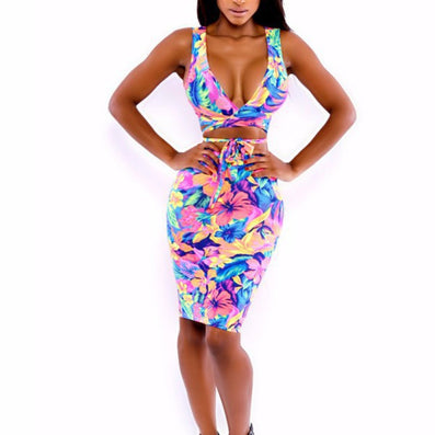 women sexy club Vestidos 2 piece bodycon elegant party knee-length - CelebritystyleFashion.com.au online clothing shop australia