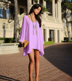 Summer casual women dress chiffon robe summer style plus size women clothing casual dress female - CelebritystyleFashion.com.au online clothing shop australia