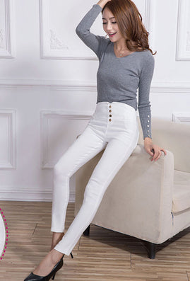 Fashion New Summer Elegant Women's OL Work Wear Slim Stretch Pencil Pants Trousers Leggings For Women/Female Plus Size 3XL - CelebritystyleFashion.com.au online clothing shop australia