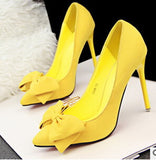 Woman Thin Heel High Heel Shoes Bowtie Shallow Mouth Fashion Women Pumps Zapato De Tacon Alto Party Shoes 42 - CelebritystyleFashion.com.au online clothing shop australia